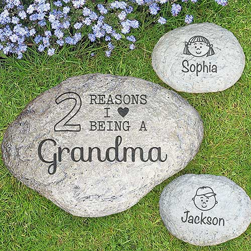 Engraved Reasons Why Garden Stone L1017314X