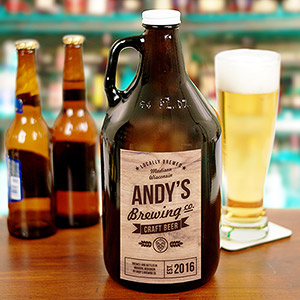Personalized Craft Beer Brewing Co. Growler