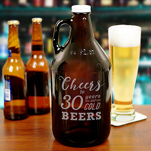 Engraved Cheers to Birthday Growler