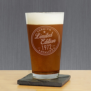 Engraved Limited Edition Beer Glass