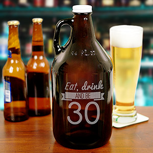 Engraved Eat, Drink Birthday Growler