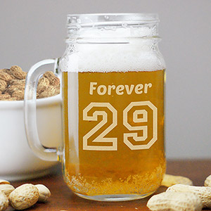 Engraved Birthday Message Mason Jar