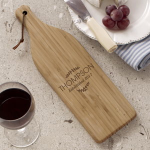 Family Name Wine Bottle Cutting Board  L1062184