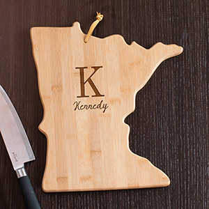 Personalized Family Initial Minnesota State Cutting Board