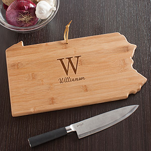 Personalized Family Initial Pennsylvania State Cutting Board L10622165PA