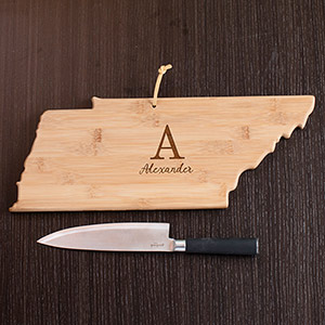 Personalized Family Initial Tennessee State Cutting Board L10622165TN