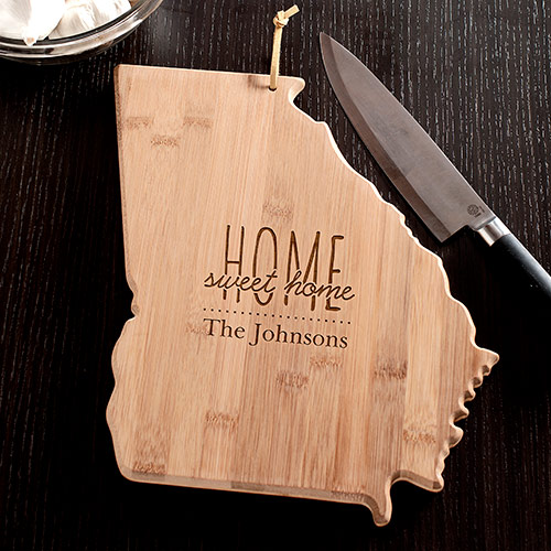 Personalized Home Sweet Home Georgia State Cutting Board | Personalized Cutting Board