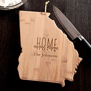 Personalized Home Sweet Home Georgia State Cutting Board