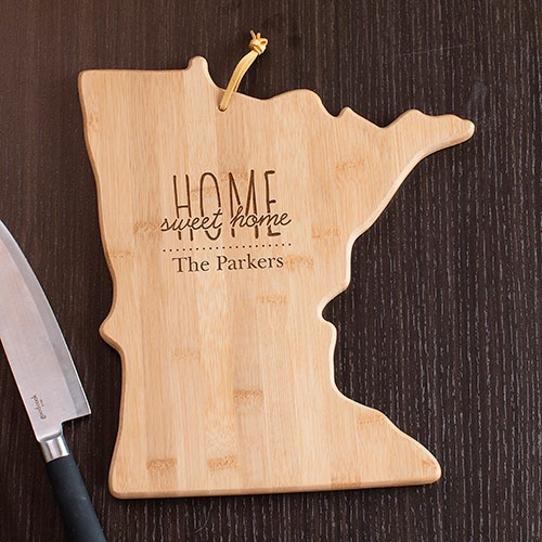 Personalized Home Sweet Home Minnesota State Cutting Board | Personalized Cutting Board