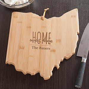Personalized Home Sweet Home Ohio State Cutting Board | Personalized Cutting Boards