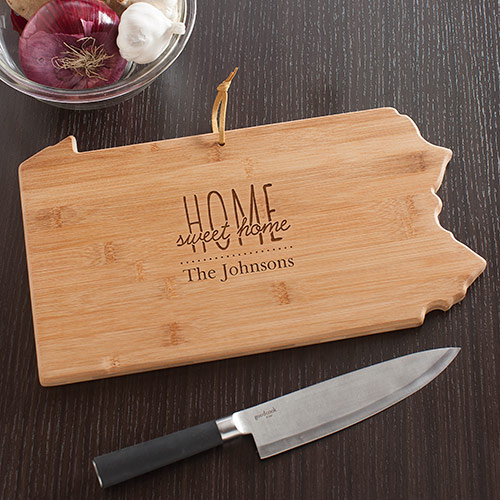 Personalized Home Sweet Home Pennsylvania State Cutting Board | Personalized Cutting Boards