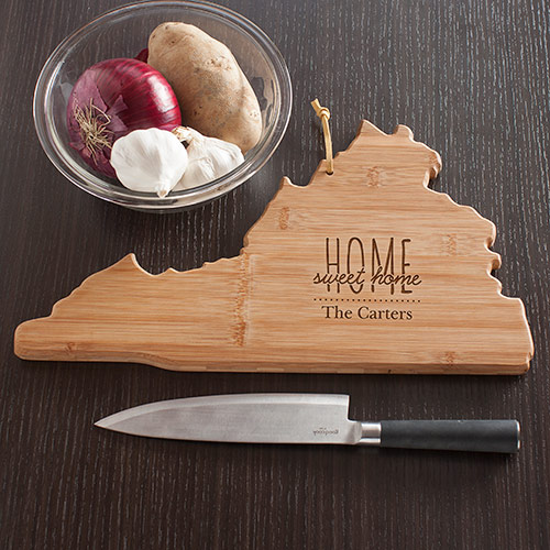Personalized Home Sweet Home Virginia State Cutting Board | Personalized Cutting Board