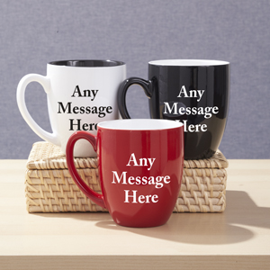 Personalized Any Message Here Bistro Mug | Personalized Gifts for Him