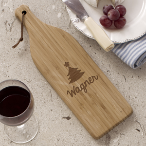 Christmas Icon Wine Bottle Cutting Board L1090484X