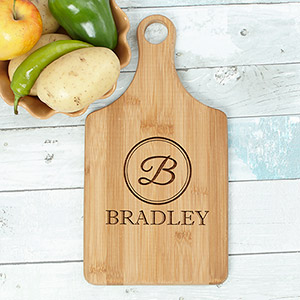Engraved Initial Paddle Cutting Board L10995188