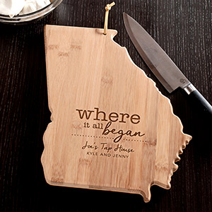 Engraved Where It All Began Georgia State Cutting Board L11009165GA