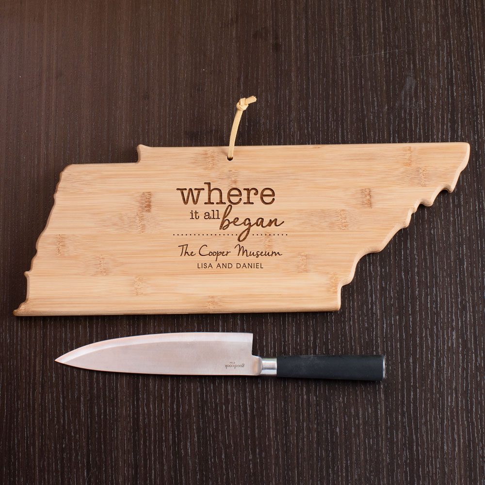Engraved Where It All Began Tennessee State Cutting Board | Personalized Cutting Boards