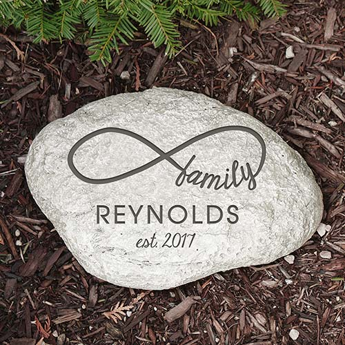 Personalized Infinity Family Garden Stone | Personalized Housewarming Gifts