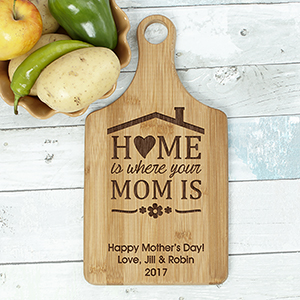 Engraved Home is Where Your Mom is Paddle Cutting Board L11238188