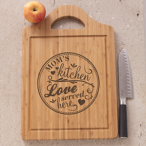 Engraved Mom's Kitchen Cutting Board L11242169