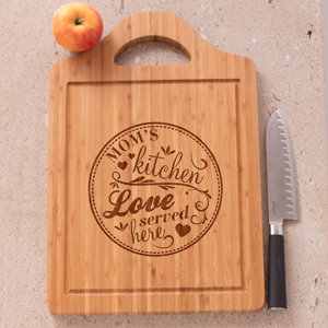 Engraved Mom's Kitchen Cutting Board | Personalized Gift For Mom