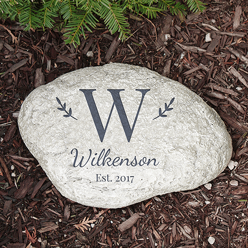 Family Initial Garden Stone | Personalized Housewarming Gifts