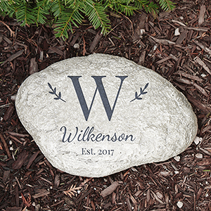 Family Initial Garden Stone | Personalized Gifts For Mom