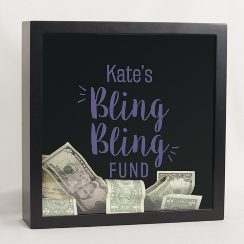 Personalized Bling Bling Shadow Box | Mother's Day Gifts