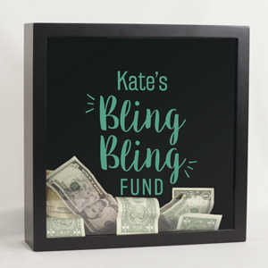 Personalized Bling Bling Shadow Box