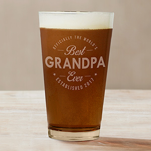 Engraved Best Ever Beer Glass | Personalized Barware