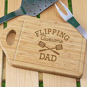 Personalized Flipping Awesome Cutting Board