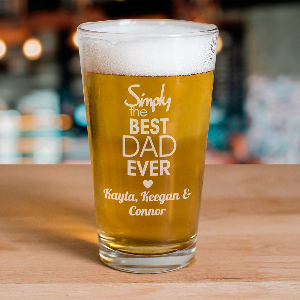Engraved Simply the Best Beer Glass | Personalized Barware Gifts