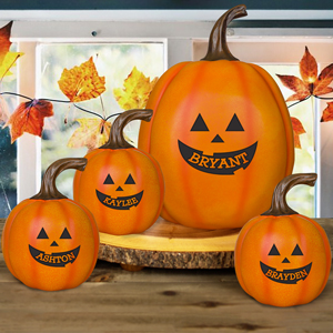 Personalized Jack-O-Lantern Pumpkin | Personalized Pumpkin