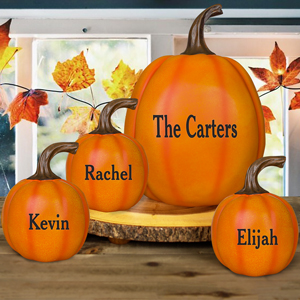 Personalized Welcome Family Halloween Pumpkin | Personalized Pumpkins