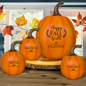 Personalized Happy Fall Y'all Pumpkin | Personalized Pumpkins
