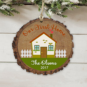 Personalized First Home Wood Ornament | Personalized Christmas Ornaments