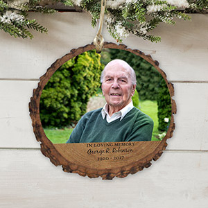 Personalized Memorial Photo Wood Ornament | Personalized Memorial Ornaments