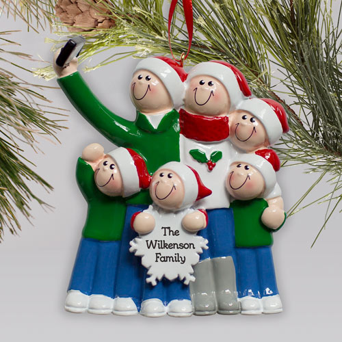 Engraved Selfie Family Ornament | Family Christmas Ornaments Personalized