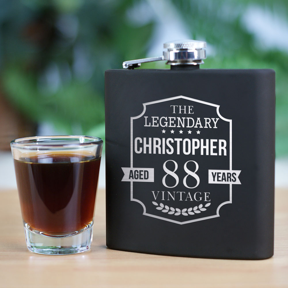 Engraved The Legendary Steel Flask | Birthday Engraved Flasks