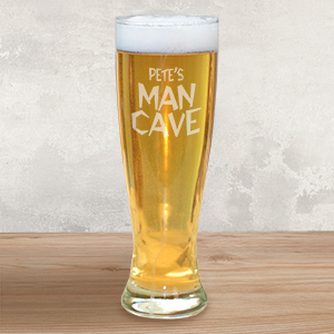 Engraved Man Cave Pilsner Glass L258341