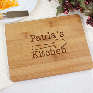 Engraved Kitchen Bamboo Cheese Board L616429