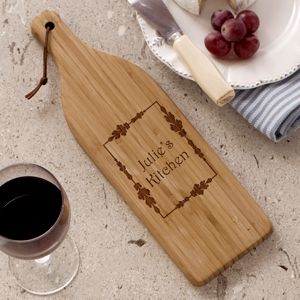 Engraved Vineyard Wine Bottle Cutting Board L621128X
