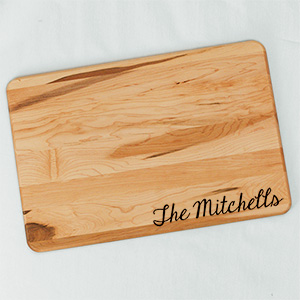 Engraved Bamboo Carving Board with Juice Well