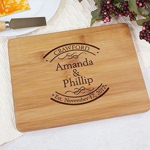Engraved Established In Bamboo Cheese Board L621629