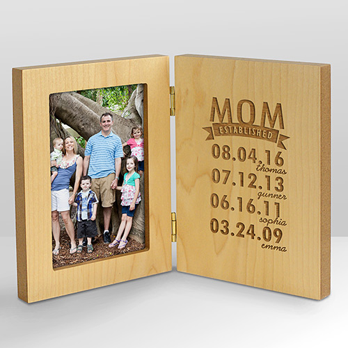 Engraved Mom Established Wood Frame | Personal Gifts For Mom