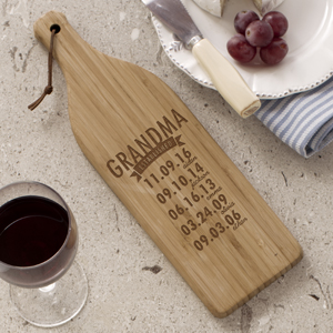 Engraved Mom Established Wine Bottle Cutting Board L724228