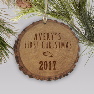 Baby's First Christmas Wood Ornament | Baby's First Christmas Ornaments