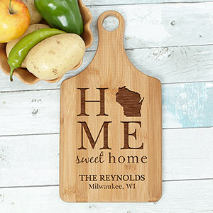 Engraved Home Sweet Home Cutting Paddle Board L7471188
