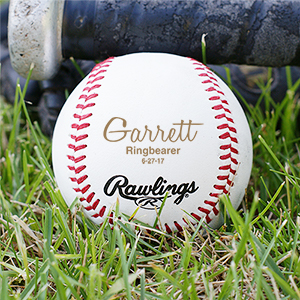 Personalized Wedding Party Baseball | Unique Groomsmen Gifts