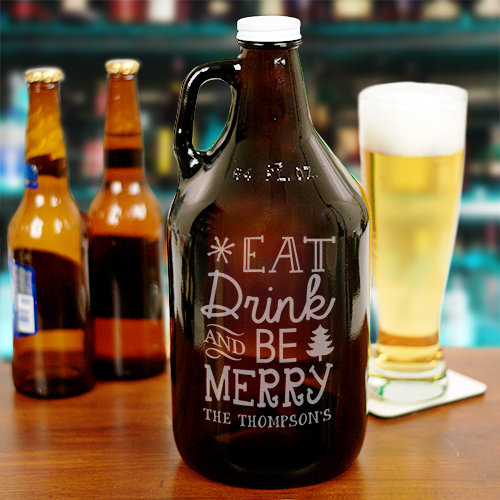 Personalized Christmas Beer Growler L802979
